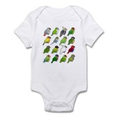 16 Birdorable Parrots Infant Bodysuit