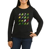 16 Birdorable Parrots Women's Long Sleeve Dark T-S