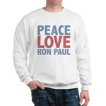 Peace Love Ron Paul Sweatshirt