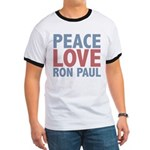 Peace Love Ron Paul Ringer T