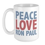Peace Love Ron Paul Large Mug