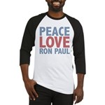 Peace Love Ron Paul Baseball Jersey