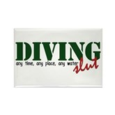 Diving Slut Rectangle Magnet