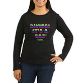 Diving It's a Gas Women's Long Sleeve Dark T-Shirt
