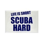 Scuba Hard Rectangle Magnet