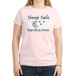 Sleep Safe Sleep with an Airman Women's Pink T-Shi