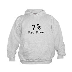 7% Fat Free T-Shirts & Gifts Kids Hoodie
