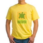 Bar Code Turtle Yellow T-Shirt