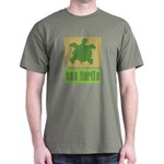Bar Code Turtle Dark T-Shirt