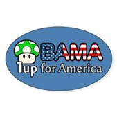 Obama 1up for America Oval Sticker