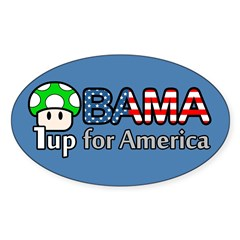Obama 1up for America Sticker (Oval)