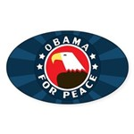 Obama For Peace Sticker (Oval)