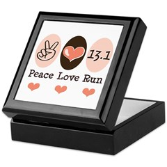 Peace Love Run 13.1 Keepsake Box