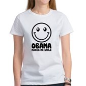 Obama Makes Me Smile Women's T-Shirt