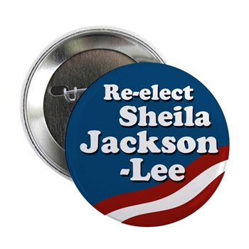Re-Elect Sheila Jackson-Lee to Congress campaign button