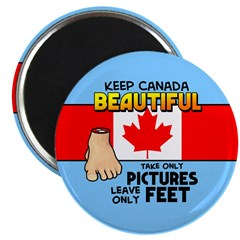 Canada Severed Foot Magnet