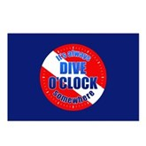 Dive O'Clock Somewhere Postcards (Package of 8)