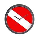 Diver Down Flag Wall Clock