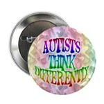"Autists Think Differently 2.25"" Button (10 pack)"