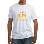 Totally Flaming Autistic Fitted T-Shirt