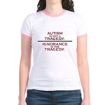 Autism is not a Tragedy Jr. Ringer T-Shirt