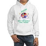 Aspies Spin the World Hooded Sweatshirt