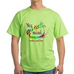 My Autistic Mind Green T-Shirt
