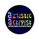 "Autistic Activist v1 3.5"" Button (100 pack)"