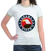 Obama-Biden Eagle Jr. Ringer T-Shirt