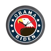 Obama-Biden Eagle Wall Clock