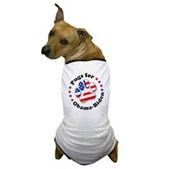 This great Pugs for Obama-Biden dog t-shirt lets your dog show support for the Democratic ticket! A paw print is filled w/ stars & stripes. A pro-Obama-Biden dog t-shirt for patriotic pooches!