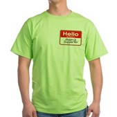 Obama Supporter Name Tag Green T-Shirt