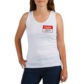 Obama Supporter Name Tag Women's Tank Top