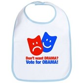 Vote Obama: No Drama! Bib