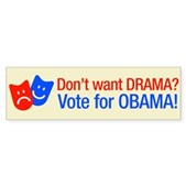 Vote Obama: No Drama! Bumper Sticker