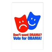 Vote Obama: No Drama! Postcards (Package of 8)