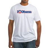 I Love Obama Fitted T-Shirt