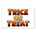 Trick or Treat Sticker (Rectangle 50 pk)