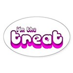 Retro I'm the Treat Oval Sticker (50 pk)