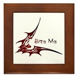 Bite Me Framed Tile