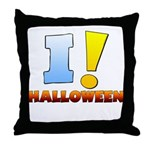 I ! Halloween Throw Pillow
