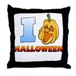 I Love Halloween Throw Pillow