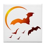 Flying Vampire Bats Tile Coaster