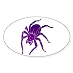 Purple Spider Oval Sticker (50 pk)