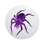 Purple Spider Round Ornament (Round)