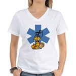 Thanksgiving EMS Women's V-Neck T-Shirt