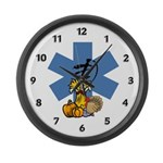 Thanksgiving EMS Large Wall Clock