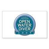 Open Water Diver 2009 Rectangle Sticker