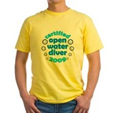 Open Water Diver 2009 Yellow T-Shirt