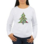Parrot Christmas Tree Women's Long Sleeve T-Shirt